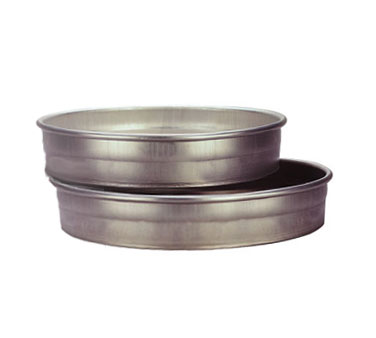 "Allied Metal CPN11X2 Aluminum 11"" ID x 2"" Pizza, Cake or Layer Pan - 1 doz"