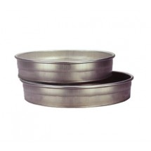 "Allied Metal CPN8X2 Aluminum 8"" ID x 2"" Pizza, Cake or Layer Pan - 1 doz"