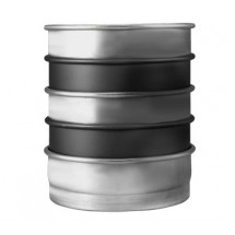"""Allied Metal CPN8X3 Aluminum 8"""" ID x 3"""" Pizza, Cake or Layer Pan - 1 doz"""
