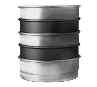 "Allied Metal CPN8X3 Aluminum 8"" ID x 3"" Pizza, Cake or Layer Pan - 1 doz"