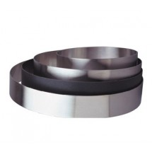 "Allied Metal CRS10238NS Stainless Steel Cake Ring with Non-Stick Coating 10"" x 2-3/8"""
