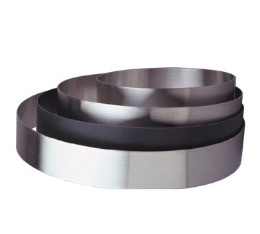 "Allied Metal CRS934 Stainless Steel Cake Ring 9"" x 3/4"""