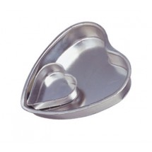 "Allied Metal HP800 Heart Pan 8"" x 1"""