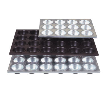 "Allied Metal MP12 Aluminum 12 Cup Muffin Pan 11"" x 14-1/2"""