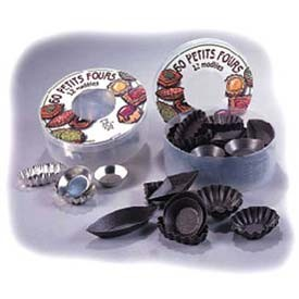 Allied Metal PFMM60SETNS Petites Four Non-Stick Mold - 5 doz