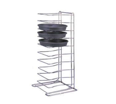 Allied Metal PTR11 11 Shelf Chrome Plated Pizza Tray Rack - 2 pcs