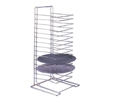 Allied Metal PTR15 15 Shelf Chrome Plated Pizza Tray Rack - 2 pcs