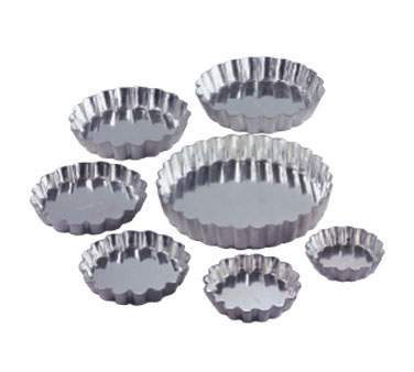 "Allied Metal TT580 Round Fluted Tartlette Pan 4-5/8"" Dia."