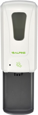 Alpine 430-F-T Automatic Hands-Free Foam Hand Sanitizer / Soap Dispenser with Drip Tray, White, 1200 ml