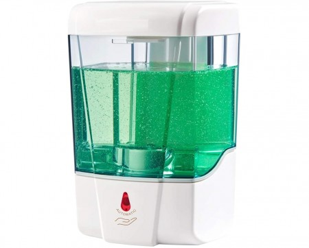 Alpine 432-1-WHI Automatic Hands-Free Gel Sanitizer / Liquid Soap Dispenser 700 ml