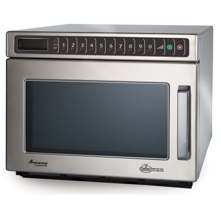 Amana HDC212 Stackable 2100 Watt Stainless Commercial C-Max Microwave