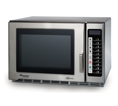 Amana RFS18TS Countertop 1800 Watt Programmable Stainless Commercial Microwave