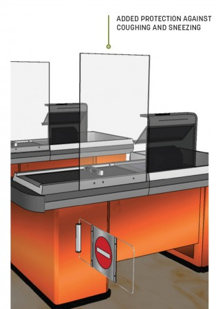 American Metalcraft AG24 Heavy Duty Acrylic Mounted Checkout Stand 24