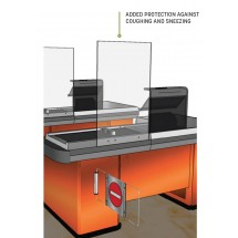 American Metalcraft AG24 Heavy Duty Acrylic Mounted Checkout Stand 24 x 36