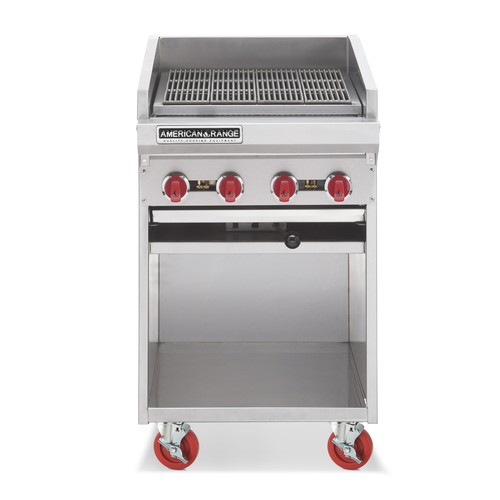 "American Range ADJF-24 24"" W  Adjustable Top Radiant Broilers Floor Model with Open Cabinet Base"