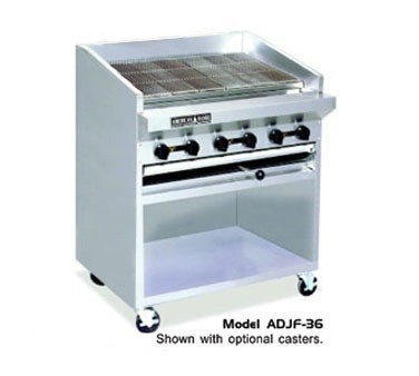 "American Range ADJF-30 30"" W  Adjustable Top Radiant Broilers Floor Model with Open Cabinet Base"