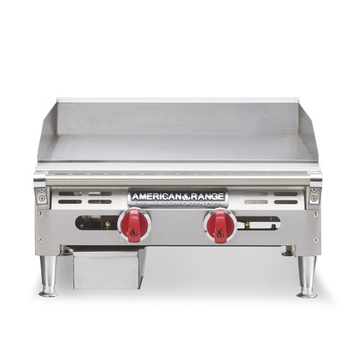 "American Range AEMG-12 12""W Gas Griddle Counter Unit with 4 Legs"