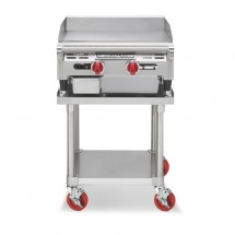 "American Range AEMG-24 24""W Gas Griddle Counter Unit with 4 Legs"