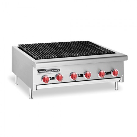 "American Range AERB-12 12""W Counter Model Reversible Grate Gas Charbroiler"