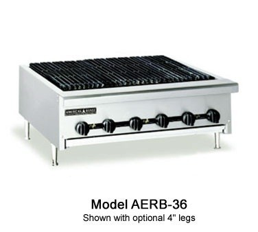 "American Range AERB-36 W"" Counter Model Reversible Grate Charbroiler"