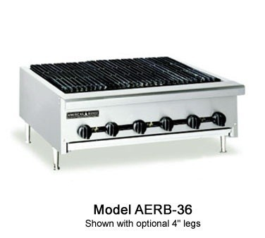 "American Range AERB-60 60"" W Counter Model Reversible Grate Charbroiler"