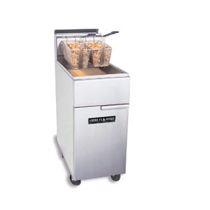 American Range AF-35/40 Gas Fryer Floor Model with Full Pot  35-50 lb. Capacity