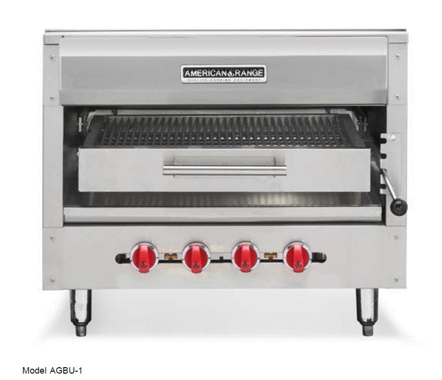 American Range AGBU-1 Single Deck Infrared Gas Broiler