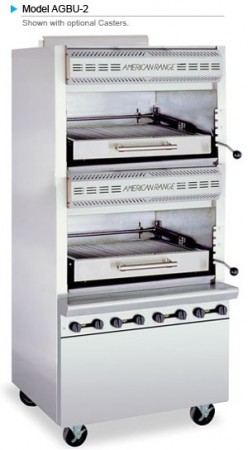 American Range AGBU-2 Double Deck Infrared Gas Broiler