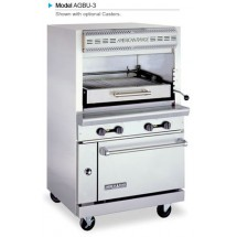 American Range AGBU-3 Single Deck Infrared Gas Broiler with Lower Oven