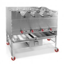 "American Range AHSR-60 60"" Wide Horizontal Broiler with Built-In Rotisseries"