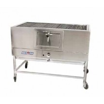 "American Range AMSQ-48 Mesquite 48"" Wide Broiler with a Gas Log Starter"