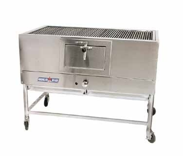 """American Range AMSQ-60 Mesquite 60"""" Wide Broiler with a Gas Log Starter"""