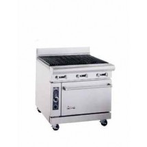 "American Range AR-3RB 36"" Heavy Duty Restaurant Range with Char Broiler and 1 Oven"