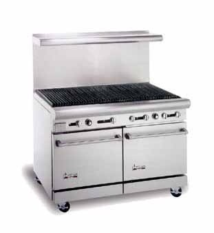 American Range AR-4RB 48& Heavy Duty Restaurant Range with Char Broiler and 2 Ovens