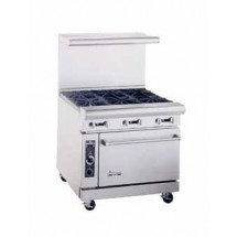 "American Range AR12G-4B 36"" Heavy Duty Restaurant Range with 12"" Griddle and 4 Burners and 1 Oven"