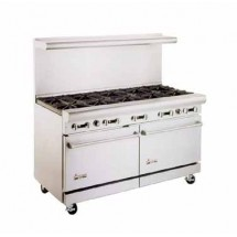 "American Range AR24G-6B 60""Heavy Duty Restaurant Range with 24"" Griddle and 6 Burners and 2 Ovens"