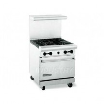 "American Range AR30-2WB-2B  30"" Heavy Duty Restaurant Range with  4 Burners and 1 Oven"