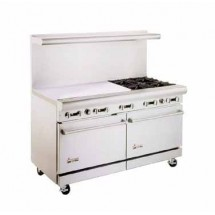 "American Range AR36G-4B 60"" Heavy Duty Restaurant Range with 36"" Griddle and 4 Burners and 2 Ovens"