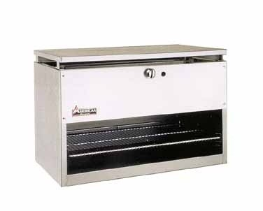 "American Range ARCM-72 72"" W Cheese Melter/Broiler with 3 Infra-Red Burners"
