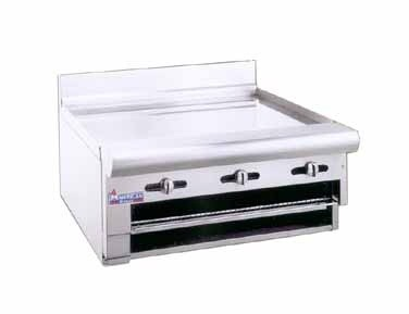 "American Range ARGB-24 24"" W  Raised Gas Griddle / Broiler Counter Model"