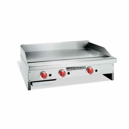 """American Range ARMG-124 24"""" W Gas Griddle Counter Unit 1"""" Thick Griddle Plate"""