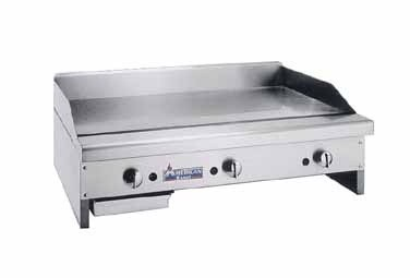"American Range ARMG-148 48"" W Gas Griddle Counter Unit 1"" Thick Griddle Plate"