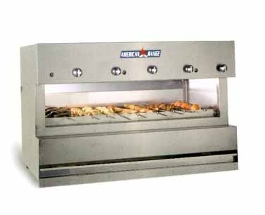 American Range AROB-60 60& Gas Counter Overfired Broiler with 5 Infrared Burners