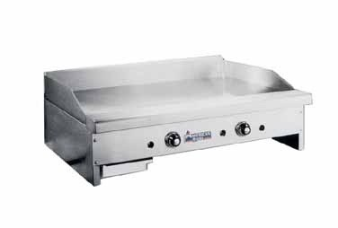 "American Range ARTG-172 Thermostatically Controlled 72"" W 1"" Thick Gas Griddle Hotplate Counter Unit"