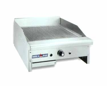 "American Range ARTGG-24 Thermostatic Controlled 24"" W Gas Grooved Griddle"