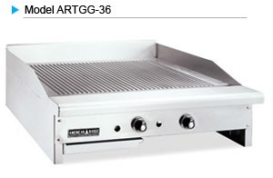 "American Range ARTGG-36 Thermostatic Controlled 36"" W Gas Grooved Griddle"