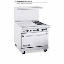 "American Range ARW36-24G-2B 36"" Heavy Duty Restaurant Range with 24"" Griddle and 2 Burners and 32"" W Oven"