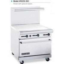 "American Range ARW36-36G 36"" Heavy Duty Restaurant Range with 36"" Griddle and 32"" W Oven"