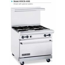 "American Range ARW36-4WB 36"" Heavy Duty Restaurant Range with 4 Burners and 32"" W Oven"