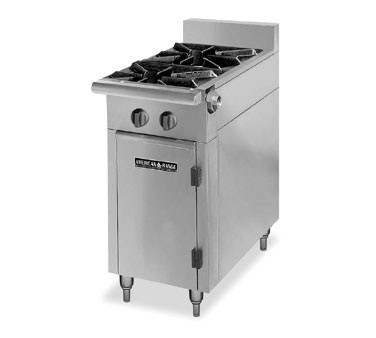 "American Range HD11-2-O Medallion Series 11"" Heavy Duty Range Storage Base with 2 Burners"